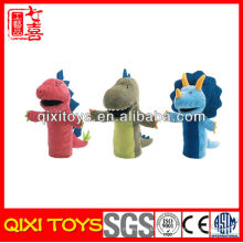 Peluche en peluche animal dinosaure main marionnette jouet dinosaure main marionnette