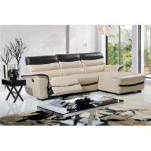 Canapé salon avec canapé moderne en cuir véritable (434)