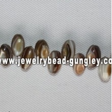 natural color rice shape freshwater shell beads