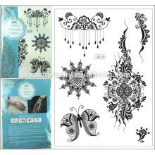 2015 Nouveau motif de tatouage temporaire à la dentelle noire 1PC 8 design imperméable à l'eau