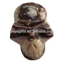 Sculpture en pierres précieuses en crème rystale naturelle