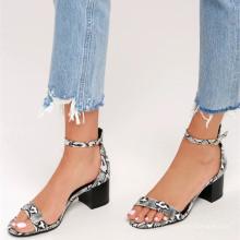 стройные ноги ремень Пип-toe верхняя среднего пятки сандалии Змея лодыжки ремень сандалии пятки