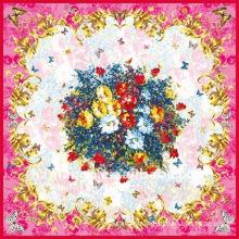 110 X 110cm silk square scarves with digital print