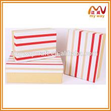 Fabricantes de caixa de presente de embalagem por atacado, caixa de presente quadrada plana