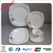 Opal Glassware /20pcs Square Shape / Opal Glassware Dinner Set