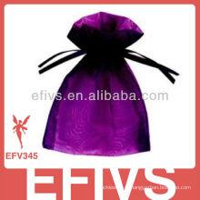 Organza Jeweled da forma roxa Bolsas