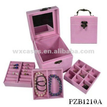 hot sale velvet jewelry box with different color options