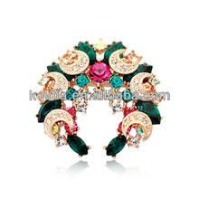 2016 broche en forme de sapin en forme de bijoux en or bijoux multicolores en pierres précieuses