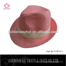 Papier rose Fedora Hat For Women