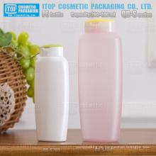 QB-S-Serie 200ml schöne ovaler Form matt finish squeezable Kunststoff Hdpe-Shampoo-Flasche 400ml