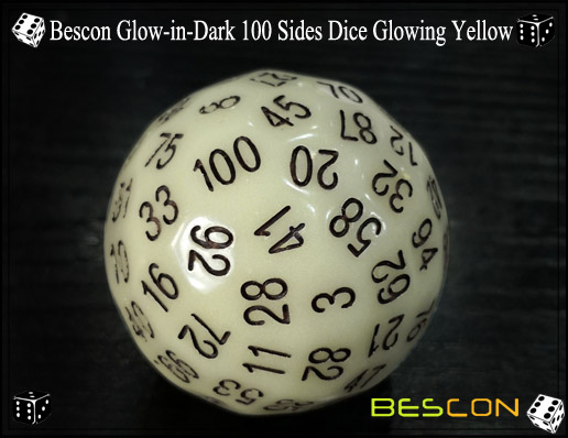 Bescon Glowing Yellow D100-4