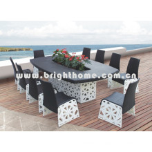 Wicker Outdoor Furniture Garden Meeting Chair and Table