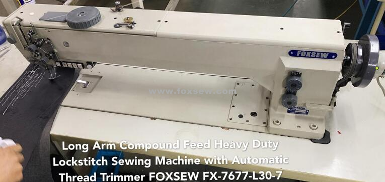 Long Arm Double Needle Compound Feed Lockstitch Machine With Automatic Thread Trimmer Fx 7678 L30 7 0000