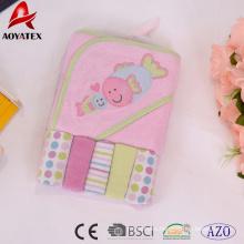 100% cotton wholesale outdoor baby blanket cotton bath towel set