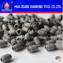 Granos de sierra de alambre de diamante de venta caliente para corte de hormigón de mármol Granie
