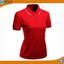 Camisas de encargo de las señoras Camisas de polo de estiramiento de algodón