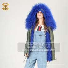 Großhandel China Frauen Winter Mode Parka Pelz gezeichnet Parka