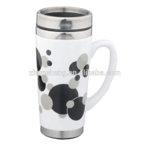 stainless steel ceramic travel beer mug with lid TC002