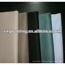 Tela de sarga de algodón elástico 32x32 + 40D 133x56 teñida en color sólido