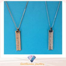 Vente en gros de bijoux à la mode Collier pendentif en forme de conception simple Collier bijoux en argent N6776