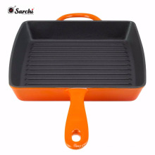 Timeless and Durable Enamel Cast Iron Square Grill Pan