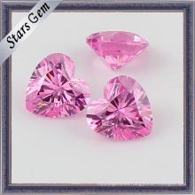 Brillante corte de forma de corazón Zircon Stone para joyería