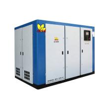 High Efficiency Oilless Air Compressor 75kw 100hp Two Stage Air Compressor Rotary Screw Air Compressor