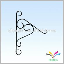 Decorative wrought iron hooks wall hanging flower basket hooks