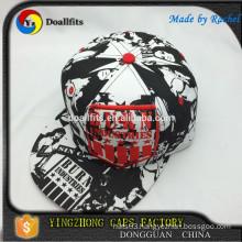 wholesale promotion customize plain snapback hats with digital printing logo fitting hats