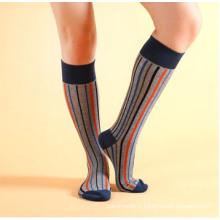 Chaussettes à rayures en coton pour hommes (MA041)