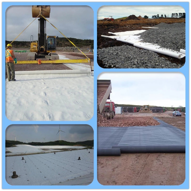 application of geotextile