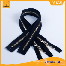 5 # Usines Bon état Veste en cuir Metal Zipper ZM10008