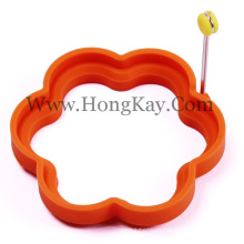Hot Selling FDA Food Grade Silicone Egg Ring, Silicone Egg Ring with Handle