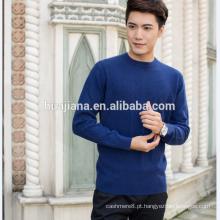 2017 design de moda Camisola azul de cashmere do homem