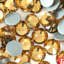 Flat Back Hot-Fix Topaz Rhinestones, 3.8-4.0mm Round