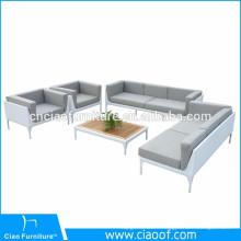 Latest Aluminum Frame Sofa Set PE Wicker Garden Furniture