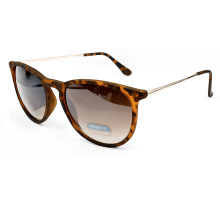 Cat Eye Round Fashion Designer Sunglasses with Metal Temples (14251)