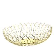 Fruit Basket Stand Round Fruit Bowl Vegetables Storage Basket Holder Countertop Vegetables Home Decorative