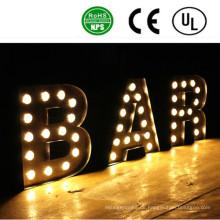 Hohe Qualität Standing 3D Ironlighting Briefe