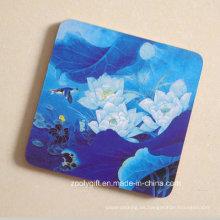 Impresión de la pintura de la Copa de madera Coaster / Placemat cuadrado promocional de la forma del corcho
