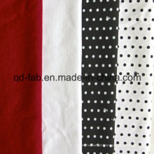 Melhor qualidade de cânhamo e algodão orgânico Jersey (QF13-0459)