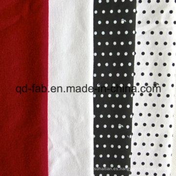 Mejor calidad de cáñamo y algodón orgánico Jersey (QF13-0459)