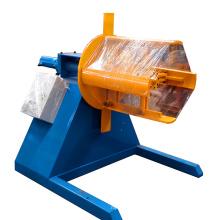 Decoiler de bobine en aluminium et recoiler / ligne de production lourde de decoiler / decoiler hydraulique pour fendre