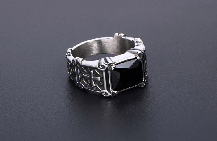 men's ring with cross