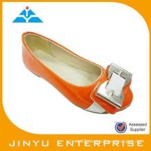 hot selling kids orange dress shoe
