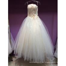 Neue Ankunfts-trägerlose ein Linie Hochzeits-Kleid unter 150USD