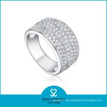 2016 Elegantes Sterling Silber Mikro pflastern Hochzeit Ring (R-0160)