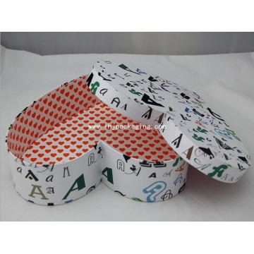Embalagem de presente de alta qualidade caixa de papel de forma de coração
