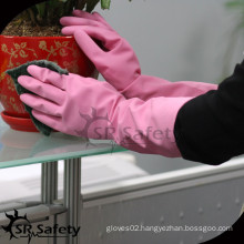 SRSAFETY household latex waterproof home cleaning gloves