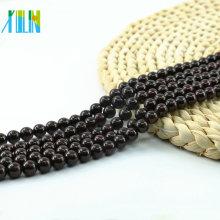 L-0058 Charm Garnet Natural Gemstone Loose Smooth Round Beads Bulk Supplies